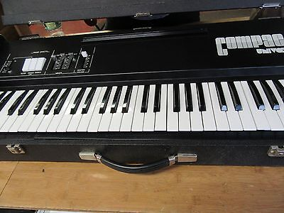 Vintage Univox Compac CP112 Compact Piano keyboard Made In Italy RaRe
