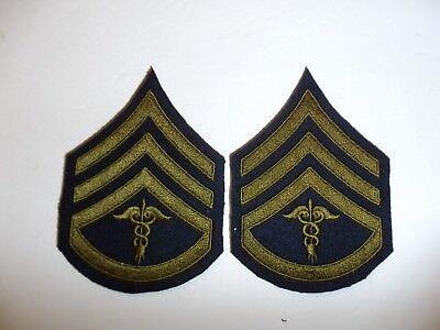 b0724p 1930's-WW2 US Army unofficial Medical Staff Sergeant pair R1B