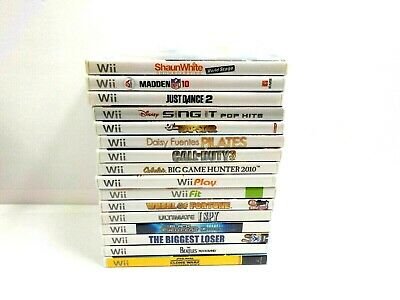 Nintendo Wii Video Game Lot Complete Game Case Manual You Pick What You Want