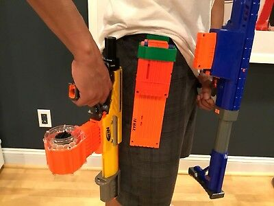 Double Magazine Clip Holder With Belt Loop for Nerf and Worker Mod Magazine Clip