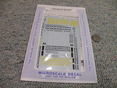 Microscale decals S  64-14 New York Susquehanna Western diesel 2 sheets   N140
