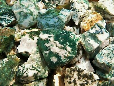 3000 Carat Lots of Green Tree Agate Rough - Plus a FREE Faceted Gemstone