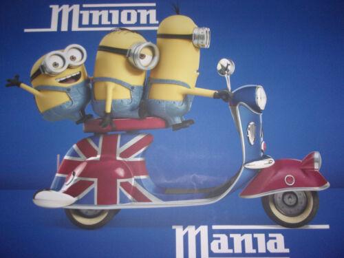 "RARE 36"" x 24"" Canvas Print Universal Promo Minion Mania Scooter British Flag"