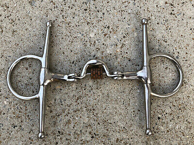 HORSE BITS VICTORIAN STYLE DECORITIVE LEAF FULL CHEEK STAINLESS STEEL
