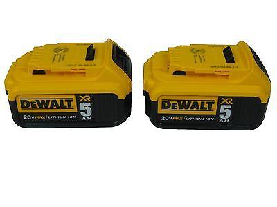 NEW DeWalt DCB205-2 20V volt MAX Lithium Ion Battery Pack w/Fuel Gauge 5 amp Ah