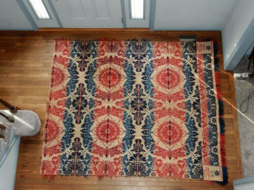 Antique Coverlet made by David Yingst, Lebanon for E. Schwope 1853