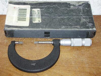 Brown Sharpe 1-2 Inch Blade Micrometer No 599-220-2 W Box - Usa