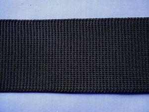 50mm Black Non-Roll Elastic