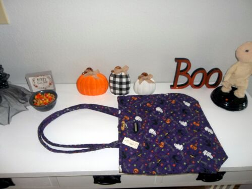 Longaberger LG FABRIC TOTE / PURSE - Halloween  Party Fabric - NEW w/tags - Cute