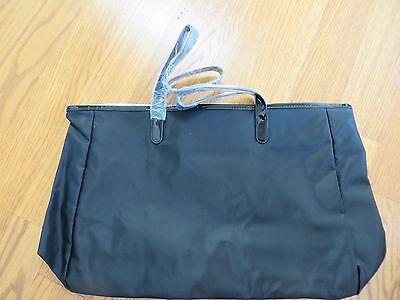 Saks Fifth Avenue Black Nylon Large Tote Handbag NWOT