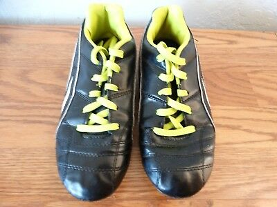 f86b6327b PUMA PROCAT Size 5 Youths 94363 Black and Green Lace Up Athletic Soccer  Cleats