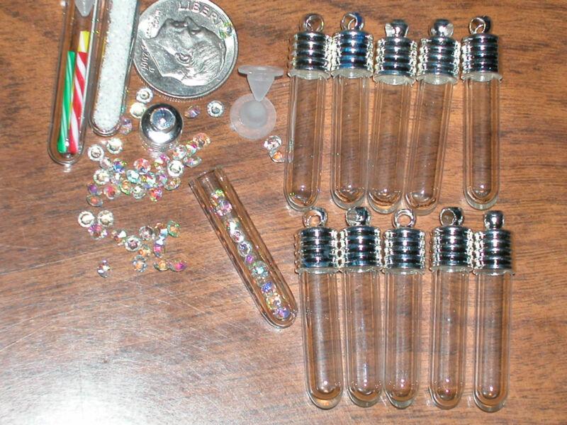 1 Necklace tube Glass bottle vial pendant Halloween true blood vampire Diaries