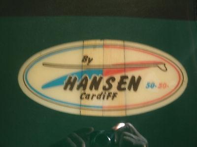 1966 hansen 50/50 vintage surfboard-10' nice
