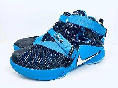 Nike LeBron Soldier IX 776471-014 Basketball Shoes Blue Boys Size 7Y Womens 8