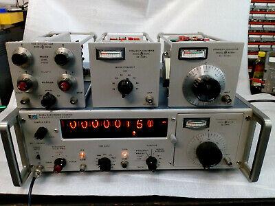 hp 5248L, Hewlett-Packard, Nixi-Röhren-Anzeige, + 3 Einschübe, 5251A+5253B+5262A