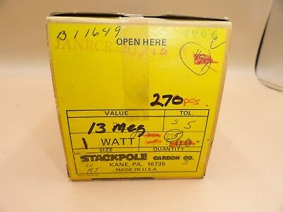 Stackpole - Pack Of 270 - Resistors 13 Meg Ohm 1 Watt