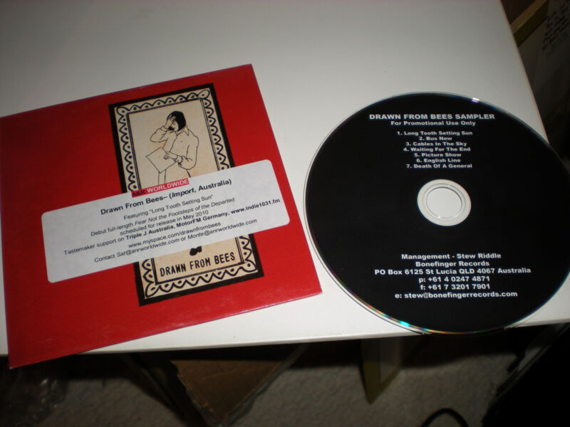 Drawn From Bees Sampler CD 7 tracks Long Tooth Setting Sun