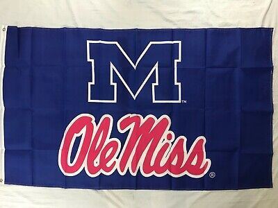 Officially licensed vintage 3x5 Ole Miss Rebels sports flag blue](Ole Miss Flag)