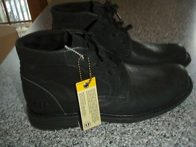 CAT Casual Ankle High Leather BOOTS Black P719119 sz 7 lace up