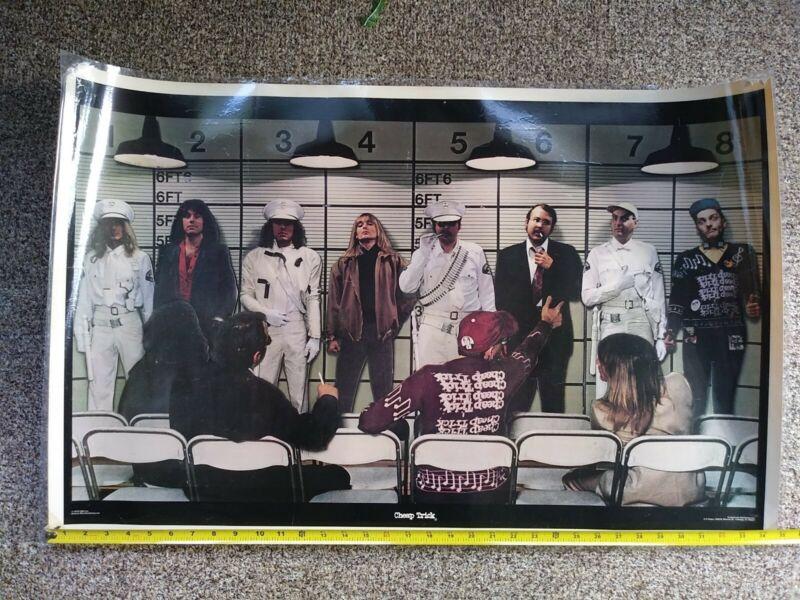 "Nice Vintage Rare 35""x 23"" Original CHEAP TRICK Poster - 1979 CBS Inc. Laminated"