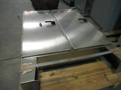 Hoffman Stainless Steel Type 12 Enclosure A-72x6112sslp Size 72x61x12 Used