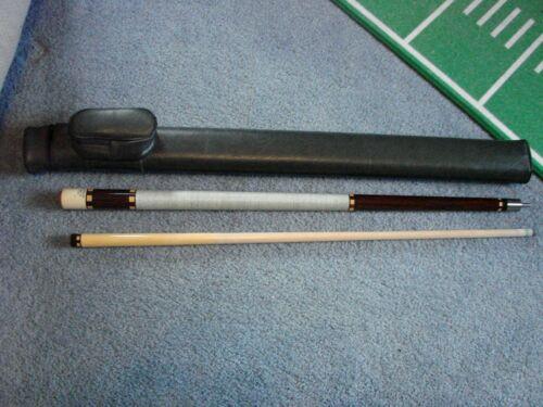 Huebler Pool Cue. Model AS-H4 (Vintage) Leather Case