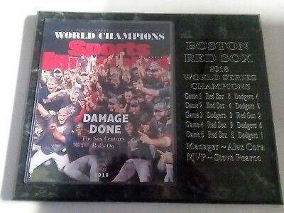 - Boston Red Sox 2018 World Series Champions plaque - New Lower Pricing!!