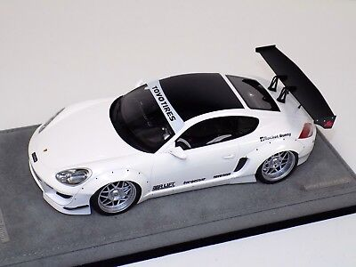 1/18 AB Models Porsche Cayman Rocket Bunny White W. Decals on Alcantara Base for sale  Shipping to India
