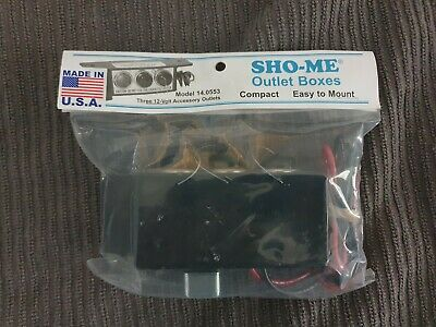 New - Sho-me Triple Cigarette Outlet Box - 3 Plugs - Made In Usa