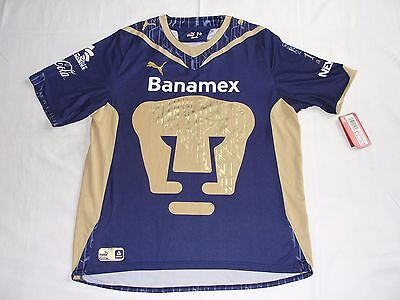 19c0ee601 Puma Pumas UNAM 100 Anos Mexico Soccer Football Jersey Men s Small New
