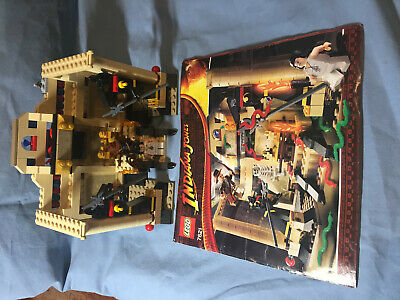 Lego Indiana Jones 7621 The Lost Tomb Used Complete w/ Manual