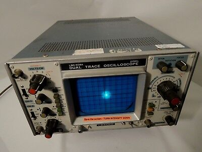 Leader Lbo-508 Dual Trace Oscilloscope With Scope Cover. Excellent Cond.