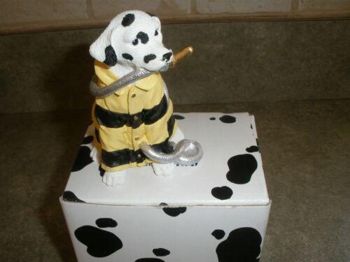 NEW Westland Dalmatian Dog Figure  Wearing Fire Jacket Holding Hose