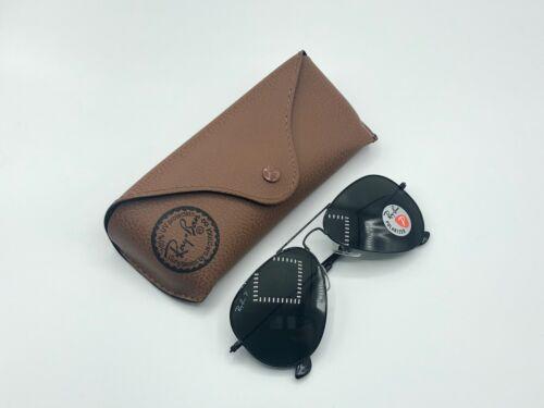Ray-Ban Aviator Sunglasses Black Frame / Gray Polarized Lenses RB3025 58mm