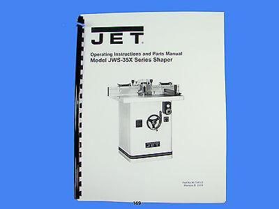 Jet  Jws-35x Wood Shaper Operator Instruction Parts Manual 169