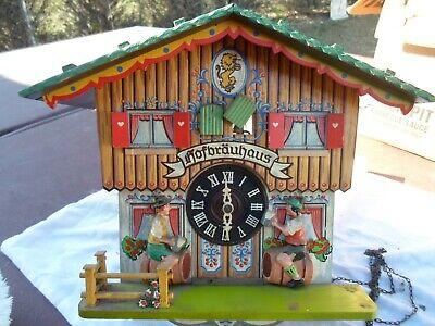Vintage Cuckoo Clock for Parts or Repair E Schmeckenbecher Hofbrauhaus