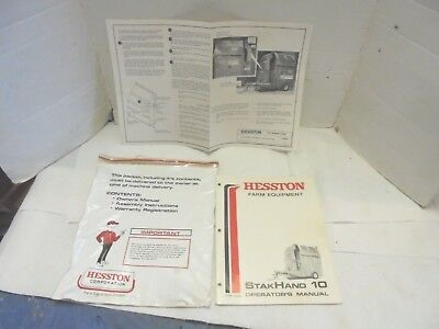 Operators Manual Hesston Stakhand 10 Hay Straw Cornstalk Farm Feeding