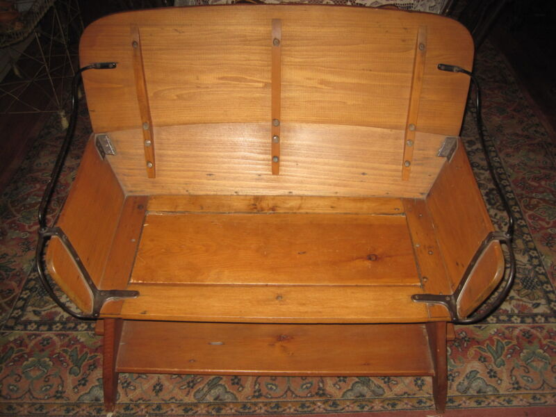 Antique Hall Bench  Buggy seat