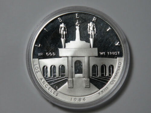 1984-S Los Angeles Olympic Coliseum Commemorative - Proof Silver Dollar