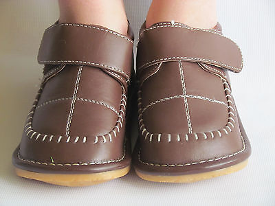 Dress Shoes For Toddler Boy (Toddler Shoes - Squeaky Shoes - Boys Brown Dress Shoes, Up to Size 7 for)