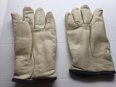 Mens Leather Work Gloves Size Xl Lined