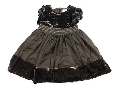 Gymboree 12-18 Month City Sparkle Brown Velvet Taffeta Tulle Lined Holiday Dress
