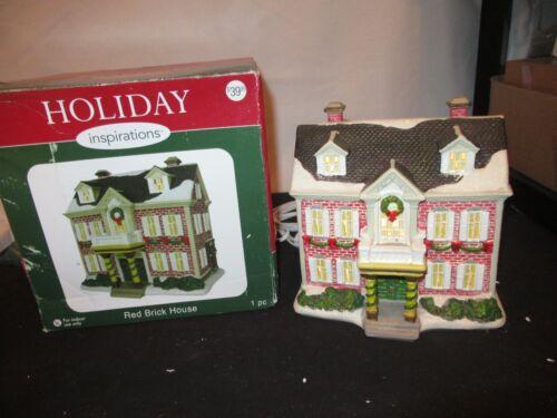 Holiday Inspirations Christmas Village Lighted House Figurine Joann w/ Box