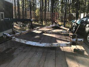 Boat trailer for steel