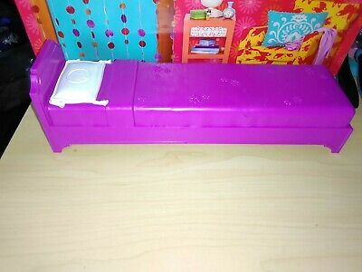 Mattel Barbie Furniture Bed Purple plastic twin size 2009 Glam Beach House