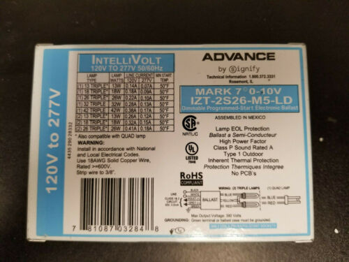 Advance Mark 7 IZT-2S26-M5-LD CFL Dimming Ballast