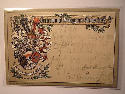 Sagan - Ferienbund der Saganer Studenten - 1911 - Wappen / Studentika