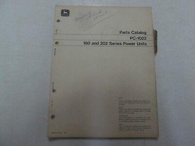 John Deere Pc-1022 180 202 Series Power Units Parts Catalog Manual Writing Oem