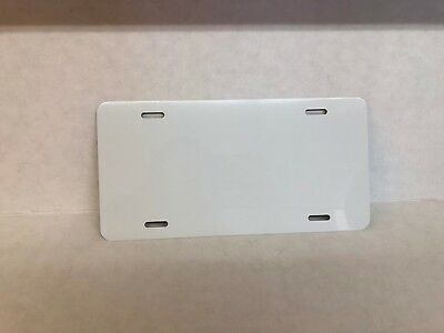 5 Aluminum White License Plate Blank For Sublimation 6 X 12