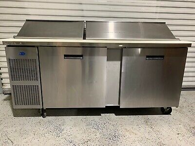 Randell 9045k-7 Refrigerated Commercial Sandwich Salad Prep Table Nice Condition